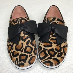 NEW KATE SPADE NEW YORK LEOPARD CALF FUR SHOE 10